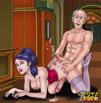 Cartoon's MILFs with long dicks